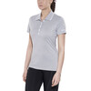 Craft In-The-Zone Polo Pique Shirt Women grey melange
